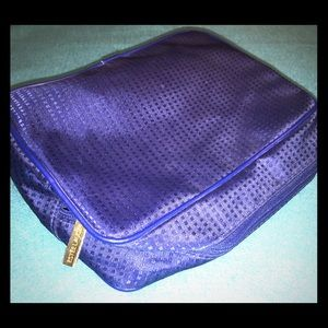 Estée Lauder makeup bag, polyester & PVC trim